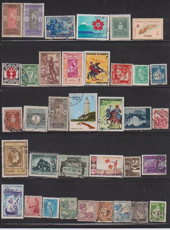 LOT OF DIFFERENT STAMPS OF THE WORLD  MINT& USED (36) LOT#136