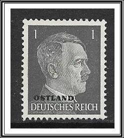 Ostland #N21 Issued Under German Occupation Third Reich NG
