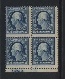 USA #504 Mint Imprint Block Of Four