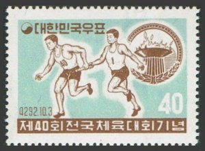 Korea South 294,294a,hinged.Mi 292,Bl.136. 40th National Athletic Meet,1959.