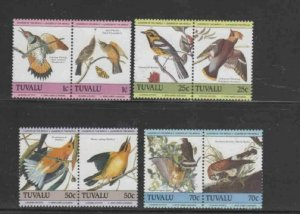 TUVALU #279-282 1984 AUDUBON MINT VF NH O.G PAIRS