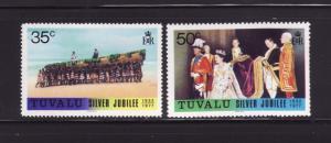 Tuvalu 44-45 MNH Queen Elizabeth II Silver Jubilee