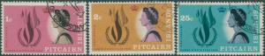 Pitcairn Islands 1968 SG85-87 Human Rights set FU