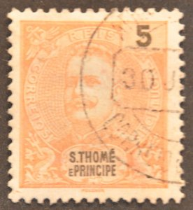 DYNAMITE Stamps: St. Thomas & Prince Islands Scott #40 – USED
