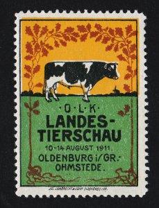 REKLAMEMARKE POSTER STAMP ⭐ EUROPE OLK LANDES-TIERSCHAU OHMSTEDE ⭐ 1911
