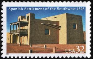 SC#3220 32¢ Spanish Settlement Single (1998) MNH