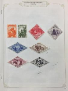 TANNU TUVA, 45//C18, 55 stamps in complete sets, MH or Used. '19 CV $171