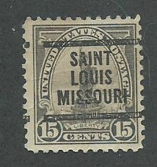 1922 USA Saint Louis Missouri.   Precancel on Scott Catalog Number 566