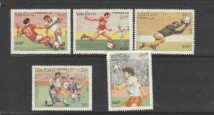 Laos 1991 Football World cup ( USA 1994 ) UM SG 1247/51
