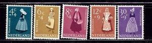 Netherlands B321-25 MH 1958 Regional Dress