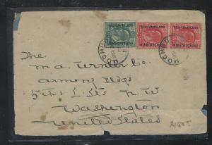 BECHUANALAND (P1703B) COER 1908 MOCHUDI KE 1/2D+1DX2 TO USA