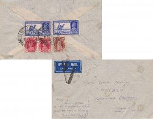 India 3a6p KGVI Dak Camel (2), 1/2a and 1a (2) KGVI 1939 Calcutta G.P.O., Air...