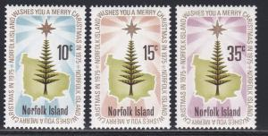 Norfolk Island # 187-189. Star over Norfolk Island. Christmas, NH, 1/2 Cat.