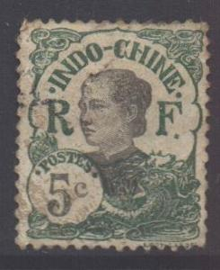 Indo-China SG54, 1907 Annamite 5c used
