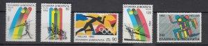 J25837  jlstamps 1992 greece set mnh #1728-32 olympics