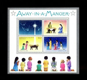 Christmas Island MNH S/S 116 Away In A Manger 1981