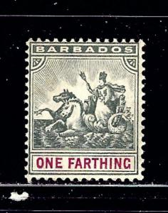 Barbados 90 MH 1904 issue   #2