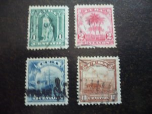 Stamps - Cuba - Scott# 233-237 - Used Set of 4 Stamps