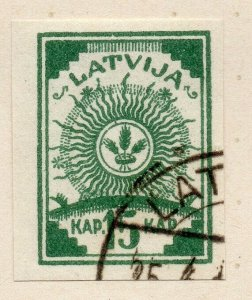 Latvia 1918 Early Issue Fine Used 15k. NW-06322