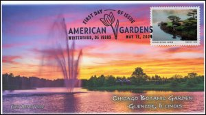 20-128, 2020, American Gardens, Pictorial Postmark, First Day Cover, Chicago Bot