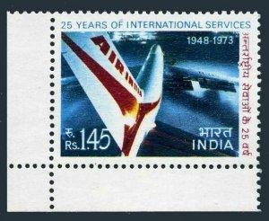 India 582,MNH.Michel 566. Air India Jet,International Service-25.1973.