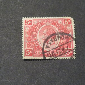 Kenya and Uganda #34 5Sh used NG, LH 1922-27 Cv.$27