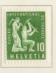 Switzerland Helvetia 1956 Early Issue Fine Mint Hinged 10c. NW-170842