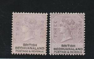 BECHUANALAND 1888 QV 2D AND 3D