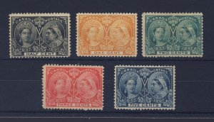 5x Canada Victoria Jubilee Mint Stamps #50-51-52-53-54 Guide Value = $116.00