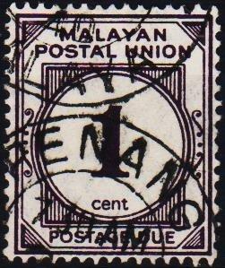 Malaya(Postal Union). 1936 1c S.G.D7 Fine Used