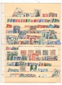 FRANCE COLLECTION ON STOCK SHEET, MINT/USED