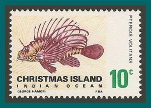 Christmas Island 1968 Lionfish, MNH 28,SG28