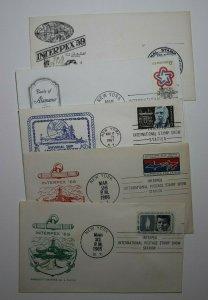 INTERPEX 65 Exhibition Multiple Events 1959-1973 Philatelic Poster Stamp Lot 5