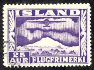 Iceland Sc# C17 Used 1934 25a Air Mail