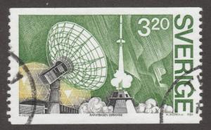 Sweden, used, Scott# 1515, rocket, satalite on stamps, space, satalite,   #M439