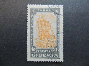 A4P25F22 Liberia Registration Stamp 1924 10c used