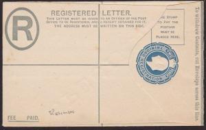TRINIDAD EVII 2d registered envelope overprinted SPECIMEN..................67580