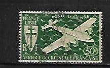 FRENCH WEST AFRICA, C2, USED, COMMON DESIGN TYPE