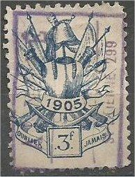 UNKNOWN, 1905, used 3f.