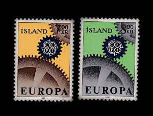 ICELAND 389-390 MNH