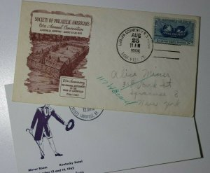 Central States Fed Stamp club Louisville KY 1962 Philatelic Expo LOUSPA 1955