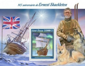 Guinea-Bissau - 2019 Explorer Ernest Shackleton - Stamp Souvenir Sheet GB190505b