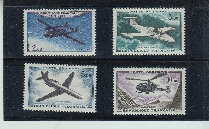 FRANCE C37-40 PRISTINE SET OF NH VF AIRMAILS