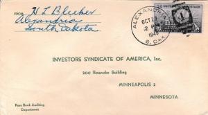 United States South Dakota Alexandria 1948 numeral duplex  Small crease and s...