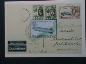 GAMBIA- 200 YEARS OF MANNED FLIGHT MNH S/S SHEET-VF WE SHIP TO WORLD WIDE