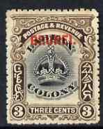 Brunei 1906 opt on Labuan 3c mounted mint SG14