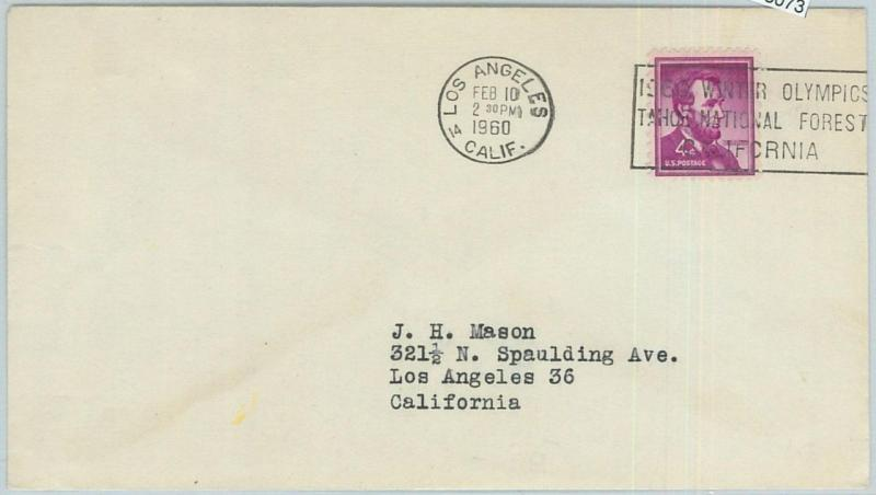 68073 - USA - POSTAL HISTORY - 1960 WINTER OLYMPIC GAMES postmark: LOS ANGELES