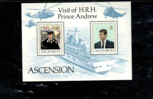 ASCENSION #349 1984 VISIT OF PRINCE ANDREW MINT VF NH O.G S/S