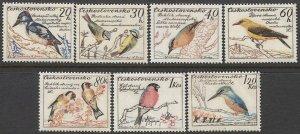 CZECHOSLOVAKIA 1959 Sc 942-948 Set of 7, MNH VF Fauna / Birds