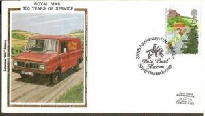 Great Britain 1985 Royal Mail Service Postbus Painting Sc 1112 Colorano Silk ...